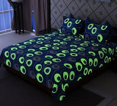 buy home candy glow in the dark blue circles cotton double bed
