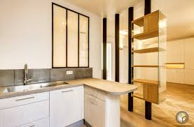 cuisine americaine appartement supérieur idee deco salle de bain nature 14 r233novation