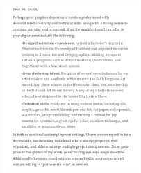 8 graphic designer cover letters free sample example format