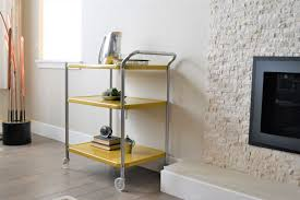 vintage yellow costco style rolling cart mid century modern bar vintage yellow costco style rolling cart mid century modern bar cart 3 tiered rolling