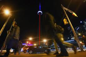French Flag Eiffel Tower Cn Tower Toronto Sign Wear Red White And Blue For Paris Toronto