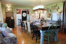farmhouse table lighting dining room shabby chic style with