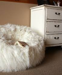 home design shaggy fur bean bag large lush u0026 soft super cloud
