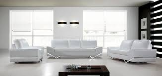 White Leather Sofa Modern Vanity Sofa 3pc Set In White Leather 0744 By Vig
