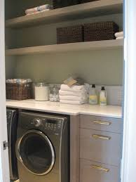 Laundry Room Storage Shelves by Awesome Shelving In Laundry Room With Brown Rattan Box Of Awesome