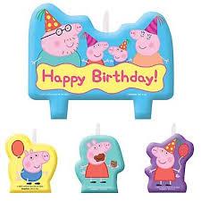 peppa pig birthday peppa pig birthday candles mtrade singapore