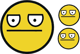 Meme Smiley - unamused face decal meme face smiley set of 3 decals ebay