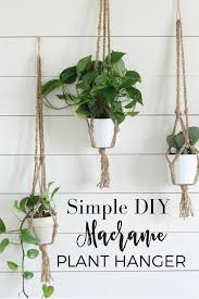 simple diy macrame plant hanger with video tutorial macrame