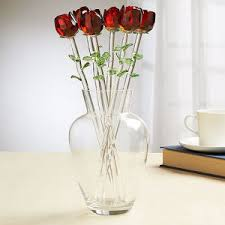 home essentials home essentials red bouquet glass roses boscov s