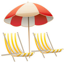 beach umbrella and chairs png clipart image clip art library