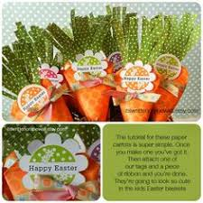 see the tutorial for these cute easter carrots that you fill with