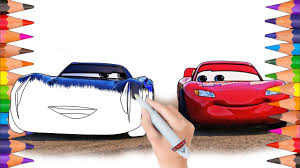 cars 3 lightning mcqueen and jackson storm coloring book pages
