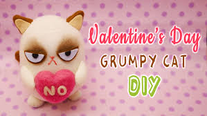 grumpy cat valentines diy grumpy cat on s day with free pattern sock plushie