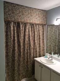shower curtain ideas for small bathrooms custom look cornice and shower curtain hometalk