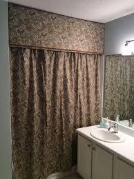 custom look cornice and shower curtain hometalk
