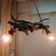 τηλ 6976773699 φωτιστικό οροφής με θαλασσόξυλα και σχοινί μανίλα