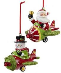 charming vintage airplane ornament tree ornaments