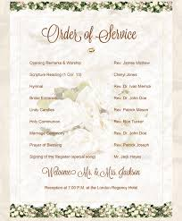 order of ceremony for wedding program wedding ceremony order inspiring rusti 9285 johnprice co