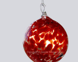 blown glass ornament etsy