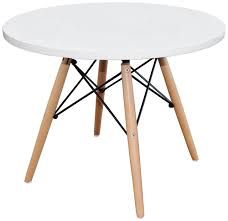 Beech And White Bedroom Furniture Interior Classics Eames Eiffel Replica Round Side Kids Table