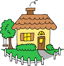 bungalow clipart little house pencil and in color bungalow