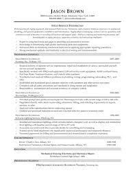 Maintenance Resume Objective Resume Maintenance Technician Resume Samples