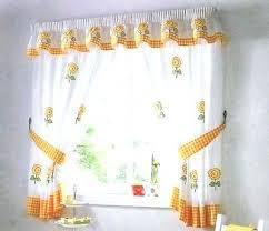 Sunflower Valance Curtains Sunflower Kitchen Curtains Teawing Co