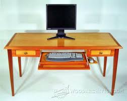 Woodworking Plans Computer Desk Computer Desk Plans Furniture Plans And Projects Woodarchivist