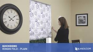 Flat Roman Shades - roman shades with flat folds quickdemo video gallery