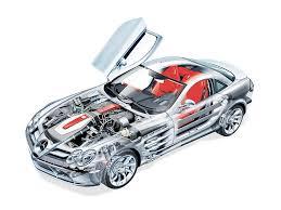 mercedes benz slr mclaren car cutaway modern racer features