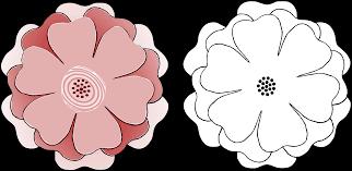 clipart flower multi choice 6 petal s3 template