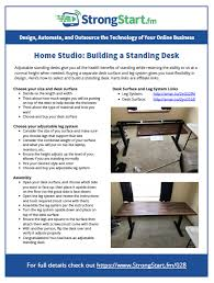 home studio building a standing desk strongstart fm 028