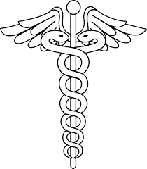 caduceus logo coloring page wecoloringpage