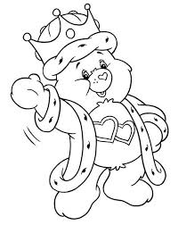 care bears coloring pages king bear coloringstar