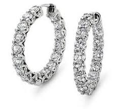 real diamond earrings white gold earrings 1 50 ct real certified white gold everyday