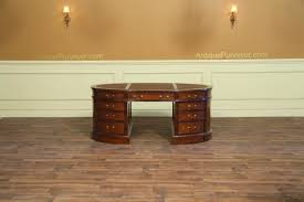Oval Office Desk Oval Partners Desk Mahogany Desk Leather Top Desk