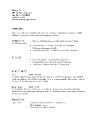 sample resume for chef position bunch ideas of sample resume for