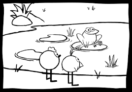 frog lily pad coloring pages parents peep