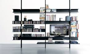 libreria tv black aluminium tv cabinet extendo
