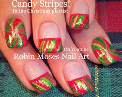 diy christmas nails peppermint candy stripe nail art design
