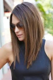 cute shoulder length haircuts longer in front and shorter in back best 25 long angled bob hairstyles ideas on pinterest long