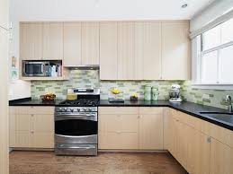 kitchen cool green and white backsplash decor with l shape