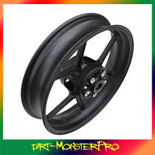 quality front wheel black rim for kawasaki er6n er 6n z750 zx10 r