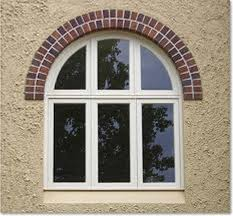 wonderful brick top arched windows frame with white painted as