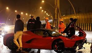 ferrari laferrari crash one more ferrari laferrari crashes down this time in china