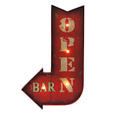 Open Light Up Sign 15 X 24 Led Open Bar Light Up Sign At Home At Home