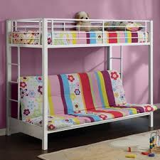 Full Over Full Futon Bunk Bed by White Metal Futon Roselawnlutheran