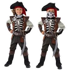 pirate costume skeleton child halloween s kids boy size 5 6 ghost