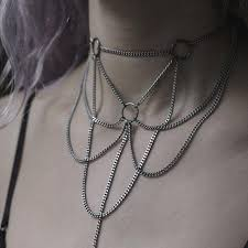 necklace choker chain images Celest silver webbed chain choker regalrose jpg