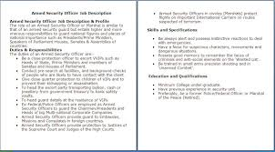 security supervisor resume objective job description armed security officer resume security skills list sample resume for security officer security officer resume sample job and template job descriptions for security
